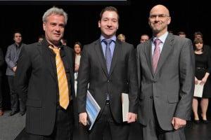 Prof. Dr. Philippe Eudelle, Sebastian Kress, Prof. Dr. Tobias Hagen (v.l.)