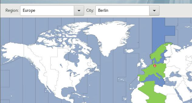 Einstellung Time & Date für Europa