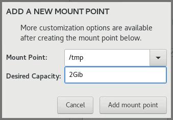 Mount Point OEL 8.1